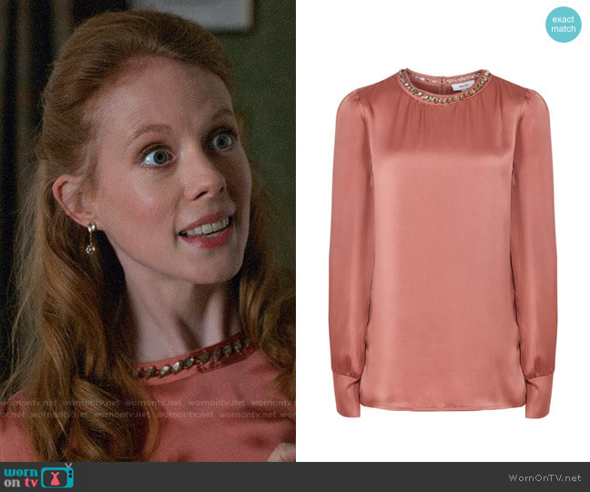 Reiss Elin Blouse worn by Gemma (Zoe Boyle) on Four Weddings & a Funeral