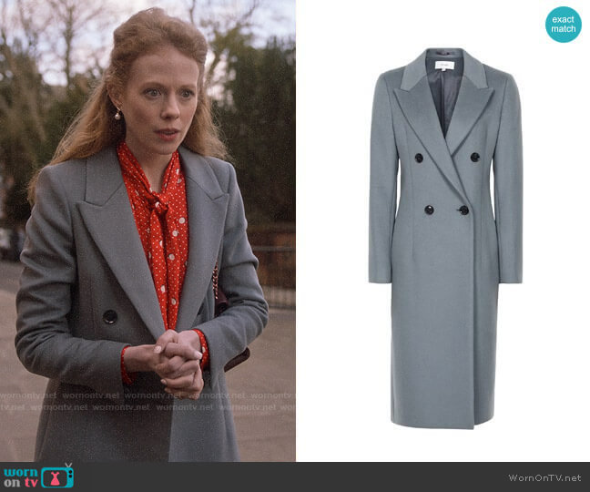 Reiss Heston Coat worn by Gemma (Zoe Boyle) on Four Weddings & a Funeral