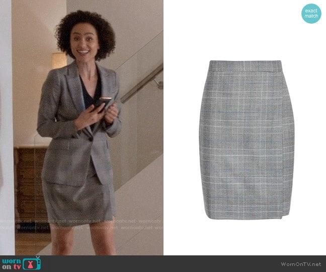 Reiss Joss Skirt worn by Maya (Nathalie Emmanuel) on Four Weddings & a Funeral