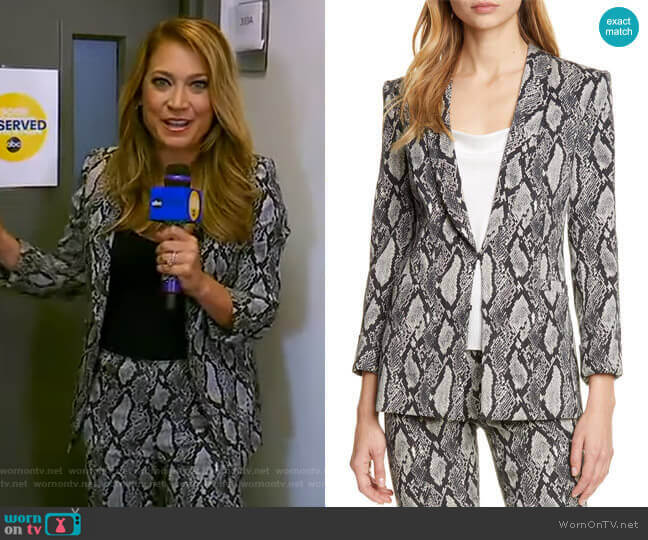 Richie Jacket by Alice + Olivia worn by Ginger Zee  on Good Morning America