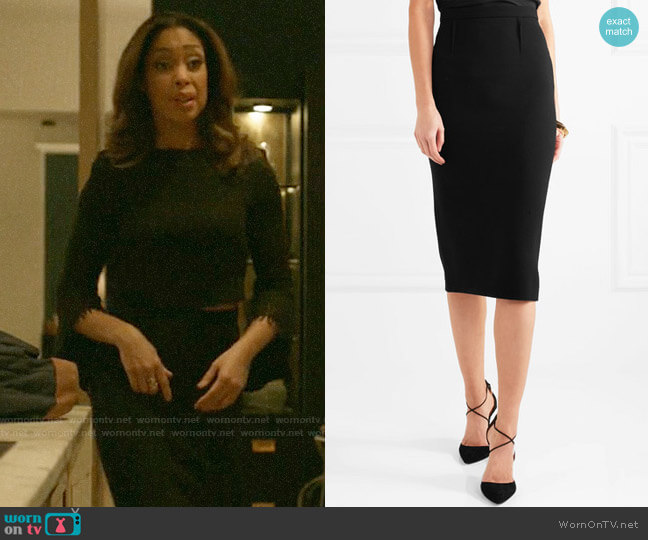 Roland Mouret Arreton Skirt worn by Jessica Pearson (Gina Torres) on Pearson