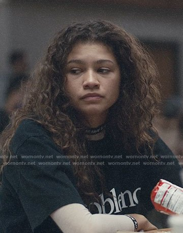 Rue's No Problemo t-shirt on Euphoria