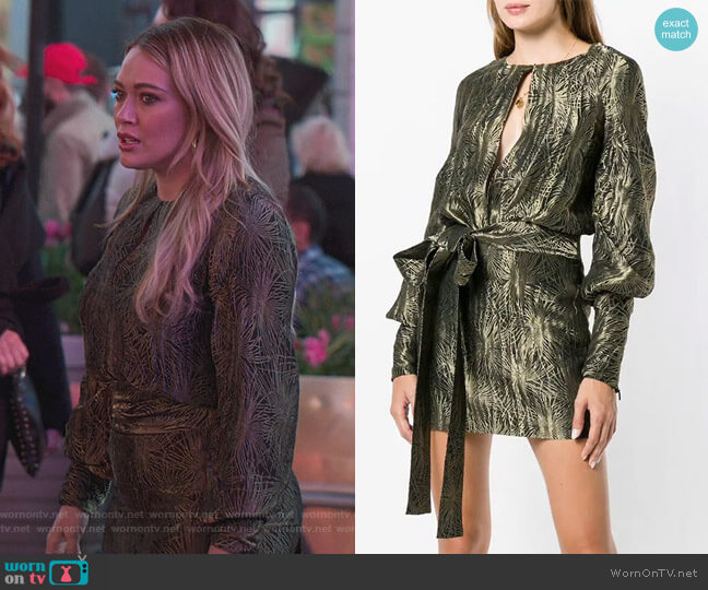 Embroidered Mini Dress by Saint Laurent worn by Kelsey Peters (Hilary Duff) on Younger