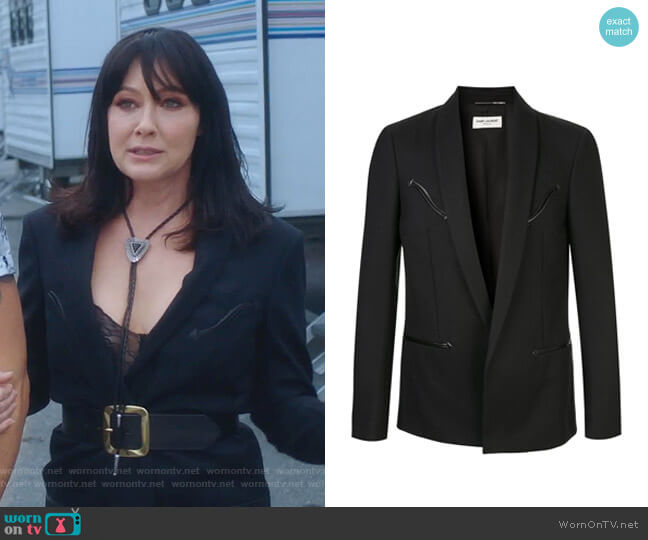Long Blazer by Saint Laurent  worn by Shannen Doherty  on BH90210