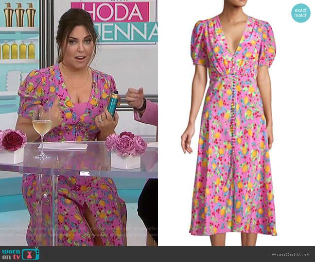 Lea Lemon Midi Dress by Saloni worn by Bobbie Thomas on Today
