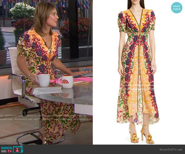 Lea Dress by Saloni worn by Savannah Guthrie  on Today