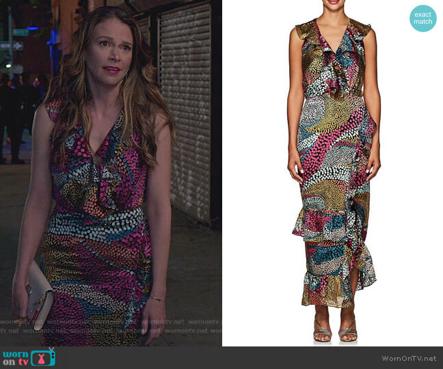 Anita Dot Devore Dress by Saloni worn by Liza Miller (Sutton Foster) on Younger