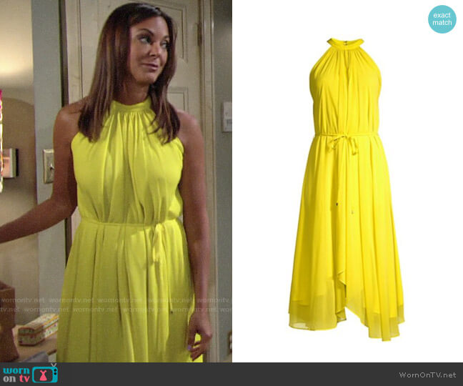 Saloni Iris Dress worn by Celeste Rosales (Eva LaRue) on The Young & the Restless