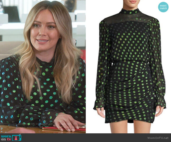 Rina Dress by Saloni worn by Kelsey Peters (Hilary Duff) on Younger