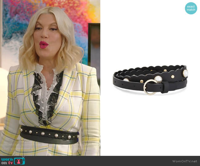 Cora Belt by Sandro worn by Tori Spelling  on BH90210