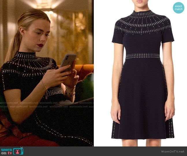 Sandro Bugle Dress worn by Ainsley Howard (Rebecca Rittenhouse) on Four Weddings & a Funeral