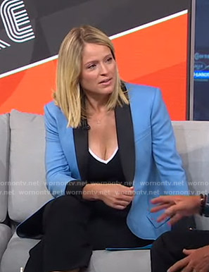 Sara's blue contrast blazer on GMA Strahan Sara And Keke