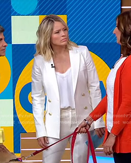 Sara's white blazer on Good Morning America