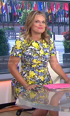Savannah's yellow floral dress on Today