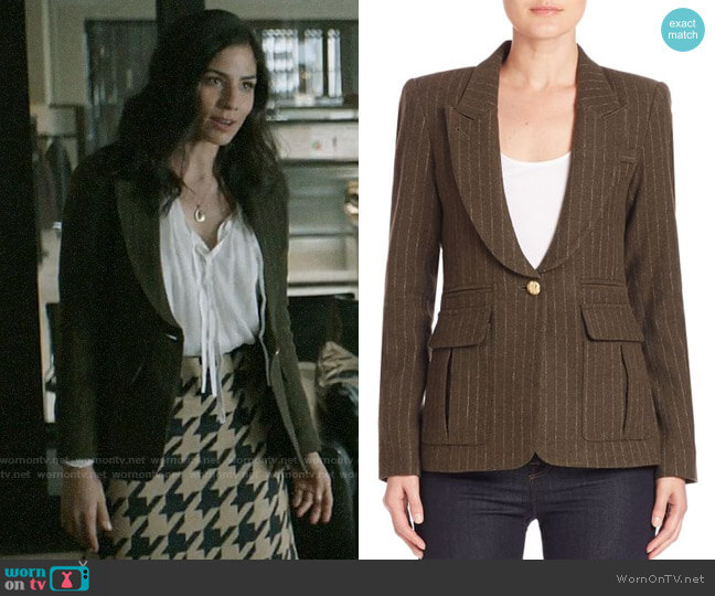 Smythe Pinstripe Blazer worn by Yoli Castillo (Isabel Arraiza) on Pearson