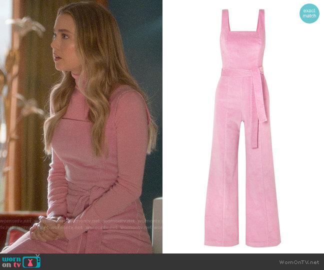 Staud Travis Belted Jumpsuit worn by Ainsley Howard (Rebecca Rittenhouse) on Four Weddings & a Funeral