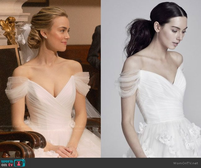 Suzanne Neville Wedding Gown worn by Ainsley Howard (Rebecca Rittenhouse) on Four Weddings & a Funeral