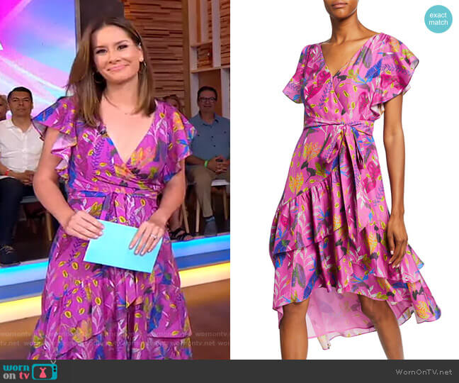 Dita Dress by Tanya Taylor worn by Rebecca Jarvis  on Good Morning America