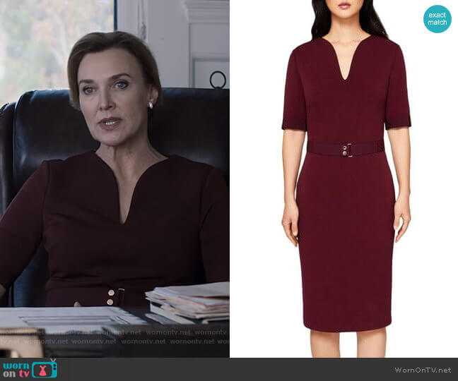 Jesabil Dress by Ted Baker worn by Nora Walker (Brenda Strong) on 13 Reasons Why
