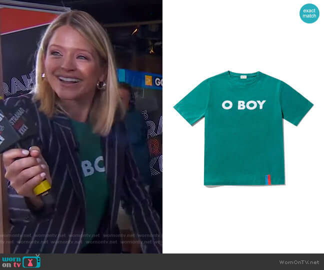The Modern O BOY Tee by Kule worn by Sara Haines  on Good Morning America