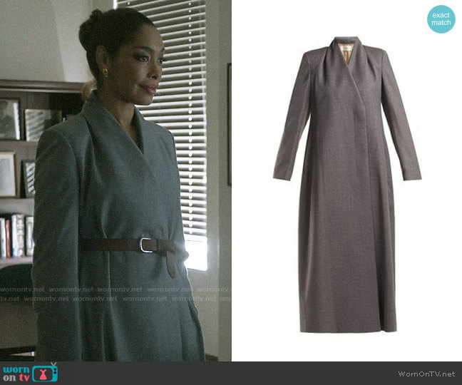 The Row Nalty Coat worn by Jessica Pearson (Gina Torres) on Pearson
