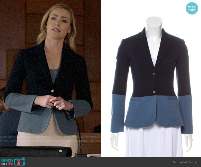 The Row Wool Colorblock Blazer worn by Katrina Bennett (Amanda Schull) on Suits