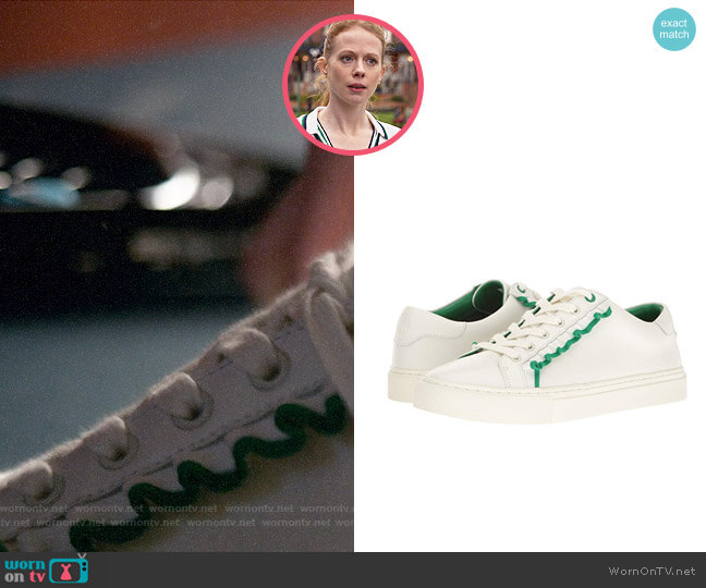 Tory Sport Ruffle Sneaker worn by Gemma (Zoe Boyle) on Four Weddings & a Funeral