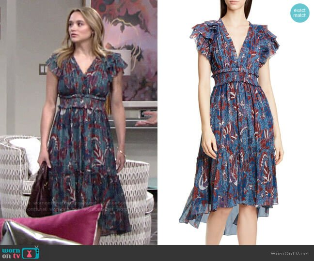 Ulla Johnson Cicely Dress worn by Summer Newman (Hunter King) on The Young & the Restless