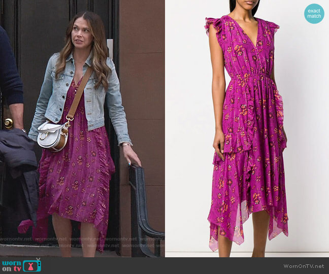 Floral Print Asymmetric Dress by Ulla Johnson worn by Liza Miller (Sutton Foster) on Younger