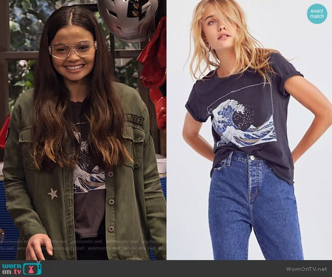 Future State Wave Tee by Urban Outfitters worn by Nick (Siena Agudong) on No Good Nick