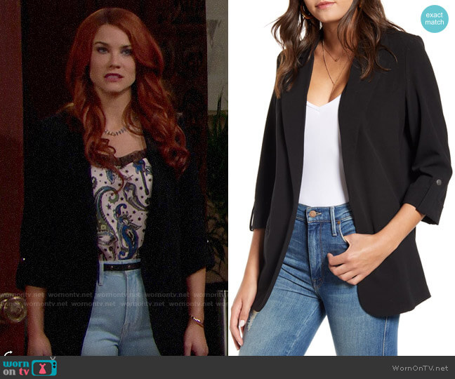 Vero Moda Cissy Blazer worn by Sally Spectra (Courtney Hope) on The Bold & the Beautiful