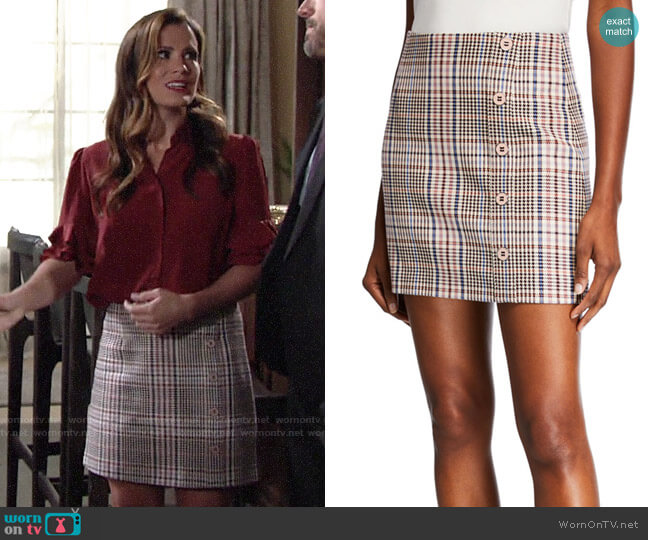 Veronica Beard Fitler Skirt worn by Chelsea Lawson (Melissa Claire Egan) on The Young & the Restless