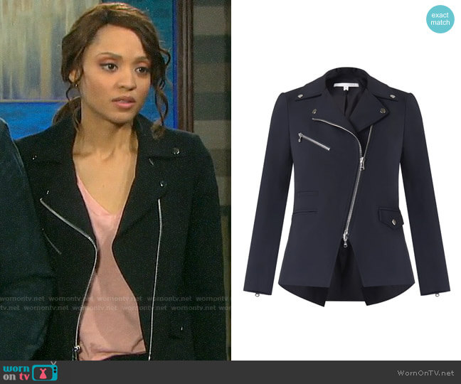 Veronica Beard Scuba Hadley Jacket worn by Lani Price (Sal Stowers) on Days of our Lives