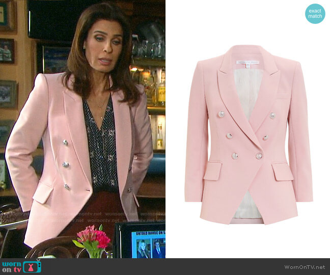 Veronica Beard Empire Blazer worn by Hope Williams (Kristian Alfonso) on Days of our Lives