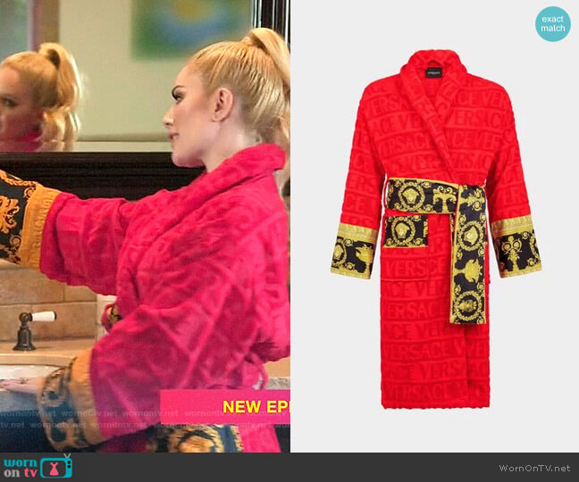 Versace Logo Toweling Baroque Bathrobe worn by Heidi Montag  on The Hills New Beginnings