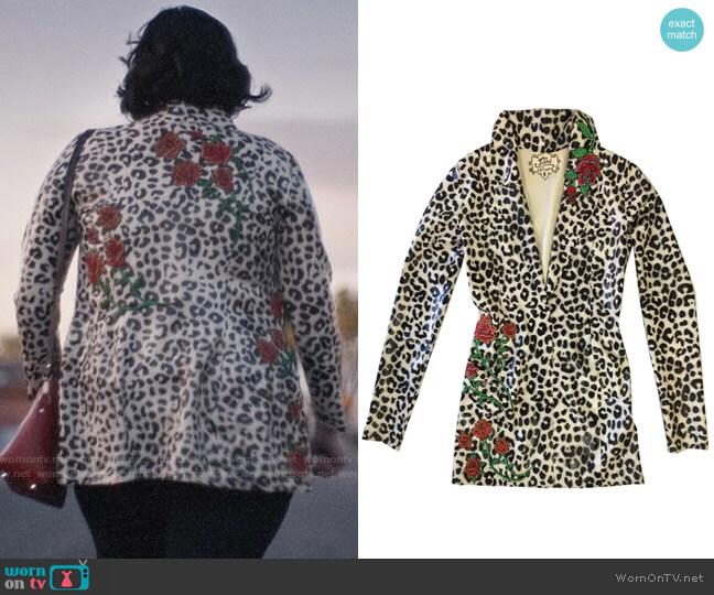Vex Latex Maggie Jacket worn by Kat Hernandez (Barbie Ferreira) on Euphoria