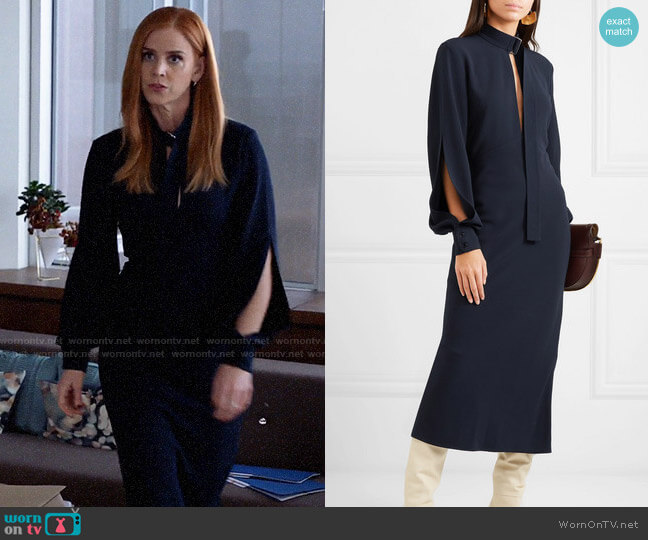 Victoria Beckham Cutout crepe midi dress worn by Donna Paulsen (Sarah Rafferty) on Suits