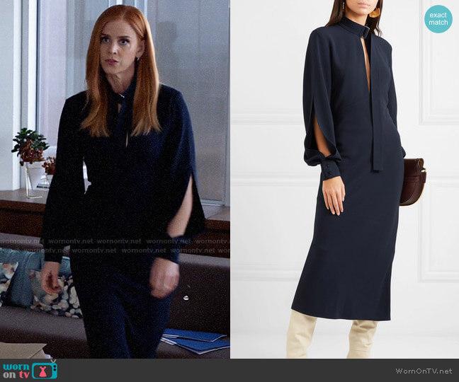 Victoria Beckham Cutout crepe midi dress worn by Donna Paulsen (Sarah Rafferty) on Suits