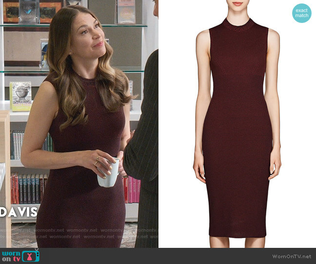 Rib-Knit Cotton-Blend Midi-Dress by Victoria Beckham worn by Liza Miller (Sutton Foster) on Younger