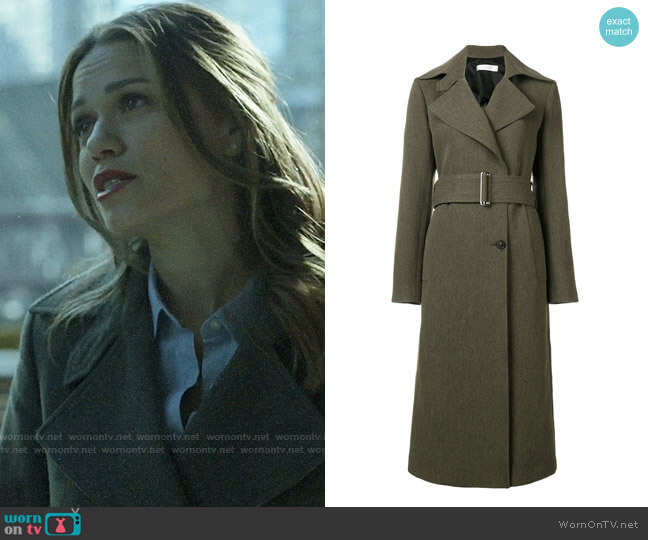 Victoria Beckham Fitted Trench Coat worn by Keri Allen (Bethany Joy Lenz) on Pearson