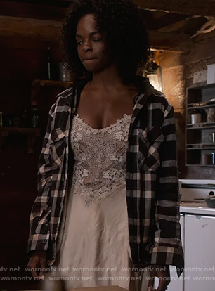 Angela's floral lace cami on What/If