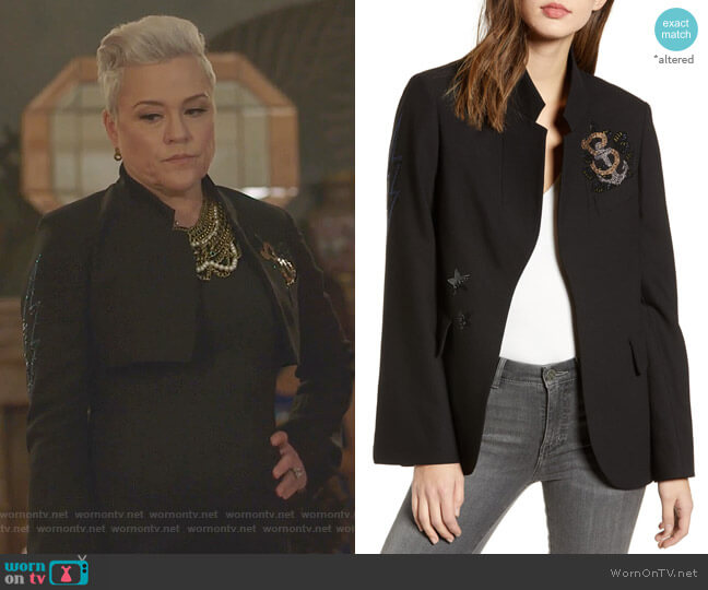 Embellished Jacket by Zadig & Voltaire worn by Christine Elise  on BH90210