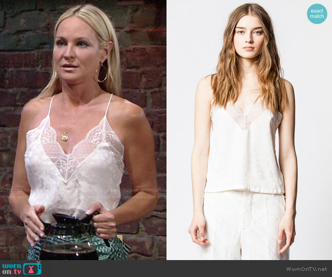 Zadig & Voltaire Chris Jac Leo Camisole worn by Sharon Collins (Sharon Case) on The Young & the Restless