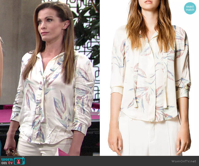 Zadig & Voltaire Touch Paradise Tunic worn by Chelsea Lawson (Melissa Claire Egan) on The Young & the Restless