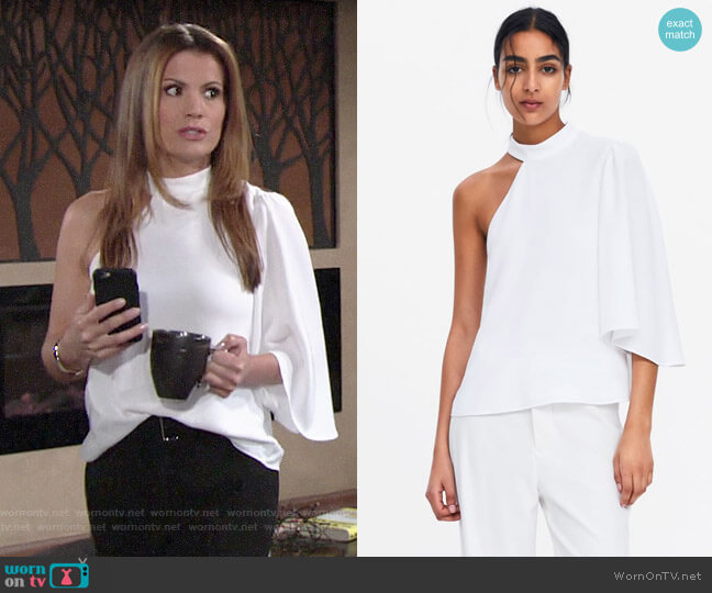 Zara Asymmetric Top worn by Chelsea Lawson (Melissa Claire Egan) on The Young & the Restless