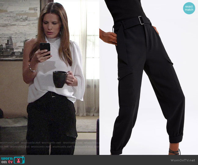 Zara Cargo Pants with Belt worn by Chelsea Lawson (Melissa Claire Egan) on The Young & the Restless
