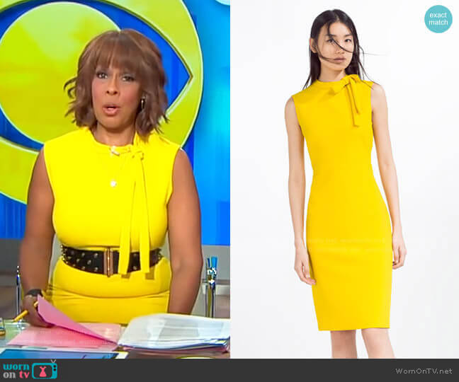 Tube Dress by Zara worn by Gayle King  on CBS This Morning