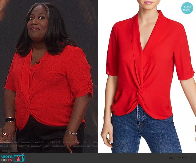 Twist-Front Blouse by 1.State worn by Sheryl Underwood  on The Talk