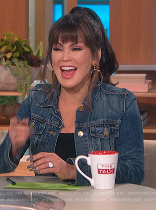Marie's denim jacket on The Talk