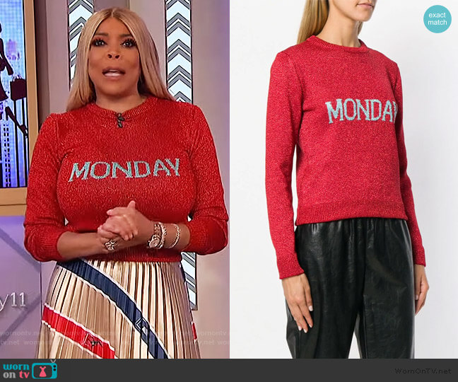 Monday Knit Jumper by Alberta Ferretti worn by Wendy Williams  on The Wendy Williams Show